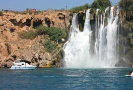 арендовать яхту в Анталии на день для прогулки к водопаду Дюден,или старый город Калеичи,или Черепаший остров